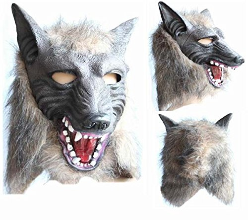 [2015 - 2014 New Hot sale Terror Halloween Easter Wolf Mask Terrorist Devil Dance Mask Full Face Masquerade latex] (Devil Masks For Sale)