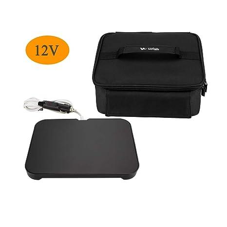 WISH Mini Horno portátil 12 V Calentador de alimentos personal con ...