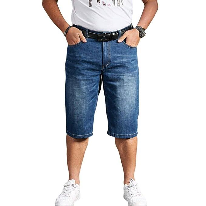 Pantalones Vaqueros De Los De Cortos Hombres Pantalones Ocio ...