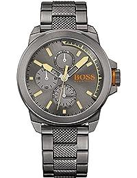 Orange Mens Newyork Grey IP Steel 1513319 Watch