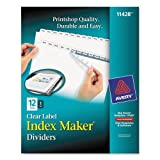 AVE11428 - Avery Index Maker Clear Label Dividers