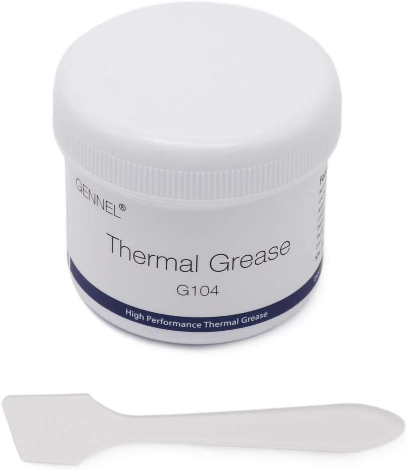 GENNEL 150g White Thermal Conductive Paste, Thermal Grease CPU Heatsink Compound for Processor/PS4/Laptop