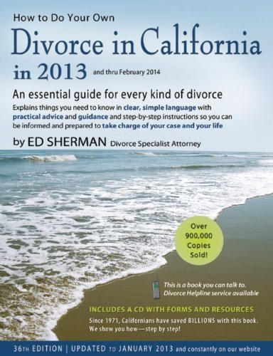 Read Online By Ed Sherman - How to Do Your Own Divorce in California in 2013 (36 Pap/Cdr) (2.6.2013) PDF
