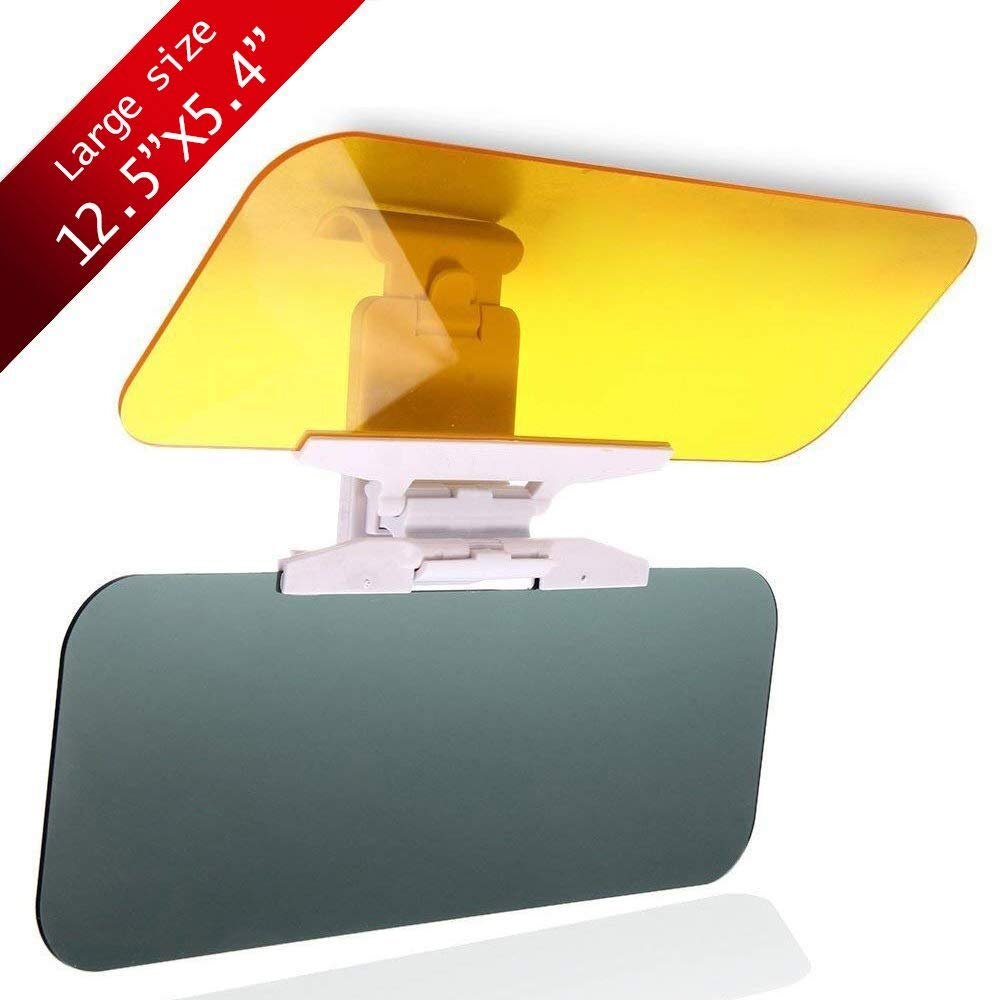 Upgrade Car Sun Visor Anti-Glare Visor 2 in 1 Day and Night Car Visor Mirror Extender, Tac Visor for Car Windshield Sun Blocker Car Goggles Shield, Anti-Dazzle Driving Visor (Large Car Visor)