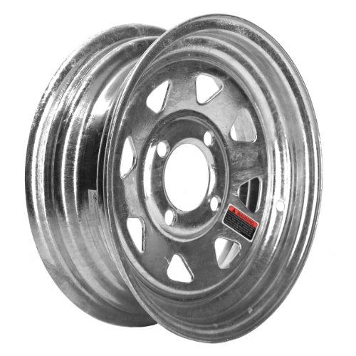 """Martin Wheel R-124S-G 4-Hole Galvanized Steel Trailer Wheel (12X4"""")"""