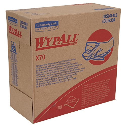 WypAll X70 Extended Use Reusable Cloths (41412), Pop-Up Box, Long Lasting Performance, Blue, 10 Boxes/Case, 100 Sheets by Kimberly-Clark Professional
