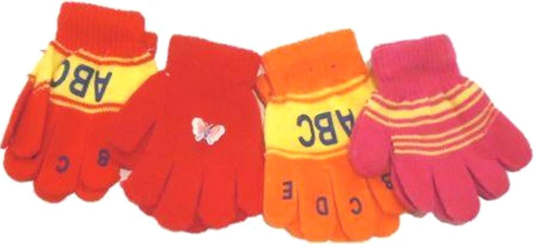 Set of Four Pairs Magic Gloves for Infant Boys and Toddlers Ages 1-4 Years