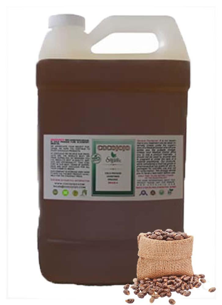 Jamaican Black Castor Oil 100% Pure , Refined, Cold Pressed (1 Gallon)