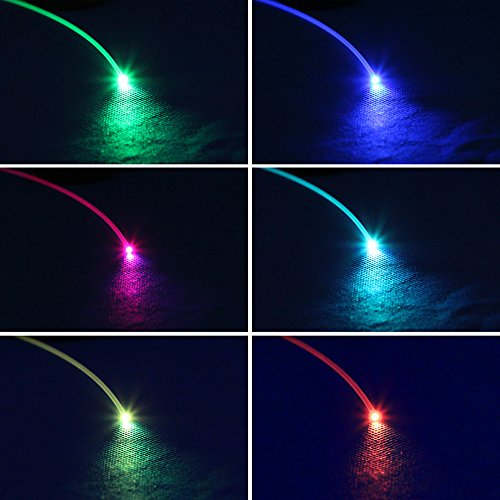 CHINLY 0.06in(1.5mm) 328ft(100M)/roll PMMA Plastic end Glow Optical Fiber Cable for Star Sky Ceiling All Kind led Light Engine Driver