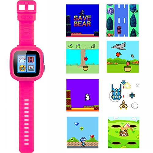 GBD Game Smart Watch Kids Children Boys Girls Gift Travel Camping Camera 1.5'' Touch 10 Games Pedometer Timer Alarm Clock Learning Toys Wrist Watch Bracelet Health Monitor Summer Vacation by GBD (Image #4)