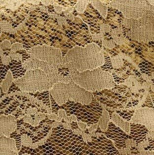(Lace Crafts - Elastic Small Plum Flower DIY Clothing Textiles lace Fabrics Render Unlined Upper Garment Skirt Fabric 1 Yards - (Color: 10 Khaki))