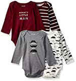 The Children's Place Baby Long Sleeve Bodysuit, Rubine 88799, UPTO7LBS