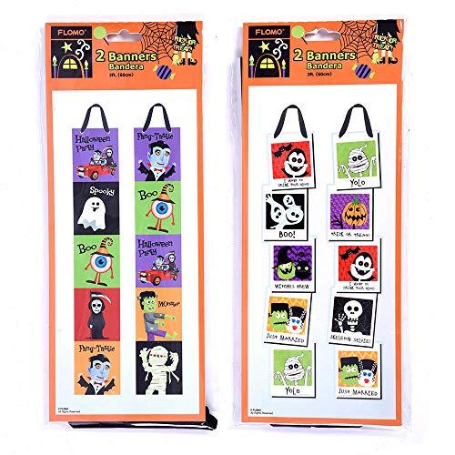2' Halloween Character Vertical Banner (Units per case: 72) ()