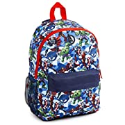 Marvel Avengers School Bag, Official Back Pack for Boys Teenagers, with Captain America Iron Man Incredible Hulk and…