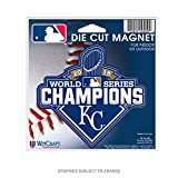 Kansas City Royals Official MLB 4.5 inch x 6 inch 2015 World Series Champions Die Cut Car Magnet by Wincraft 232205