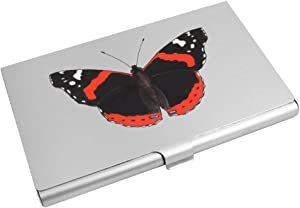 'Red Admiral Butterfly' Business Card Holder / Credit Card Wallet (CH00016733)