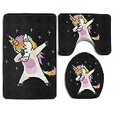 HOMESTORES Unicorn Cute Dabbing Funny Dab Dance Gift Skidproof Toilet Seat U Shape Cover Bath Mat Lid Cover For Bathroom