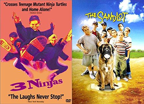 Kids Sport Feature Sandlot Baseball & 3 Ninjas brothers 2-Movie Bundle adventure action Family Fun double feature