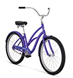 "Raleigh Bikes Women's Retroglide Step Thru Cruiser Bike, 26""/One Size, Purple"