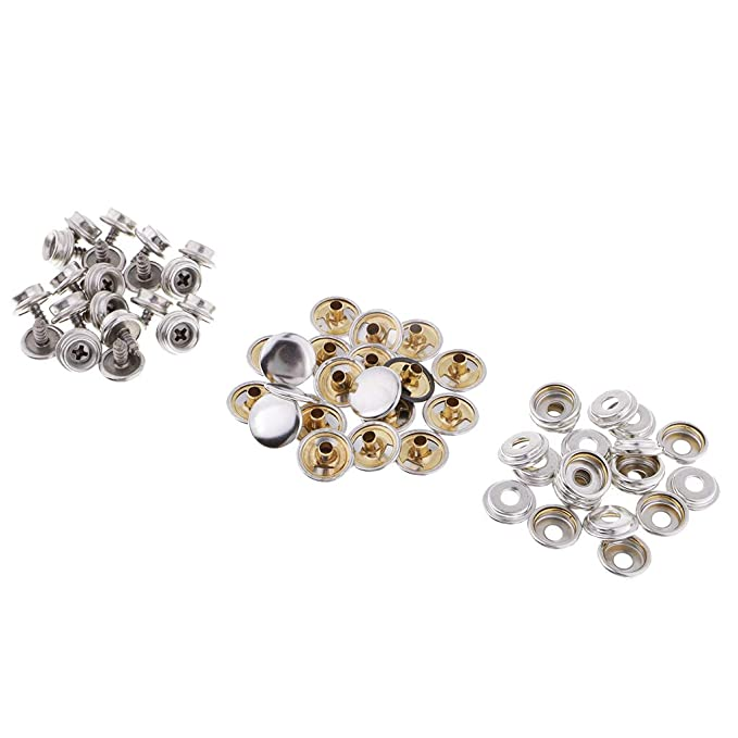 Motivated Snap Fastener Button Screw Studs Kit For Boat Canvas Fabric Home Improvement Marine Hardware