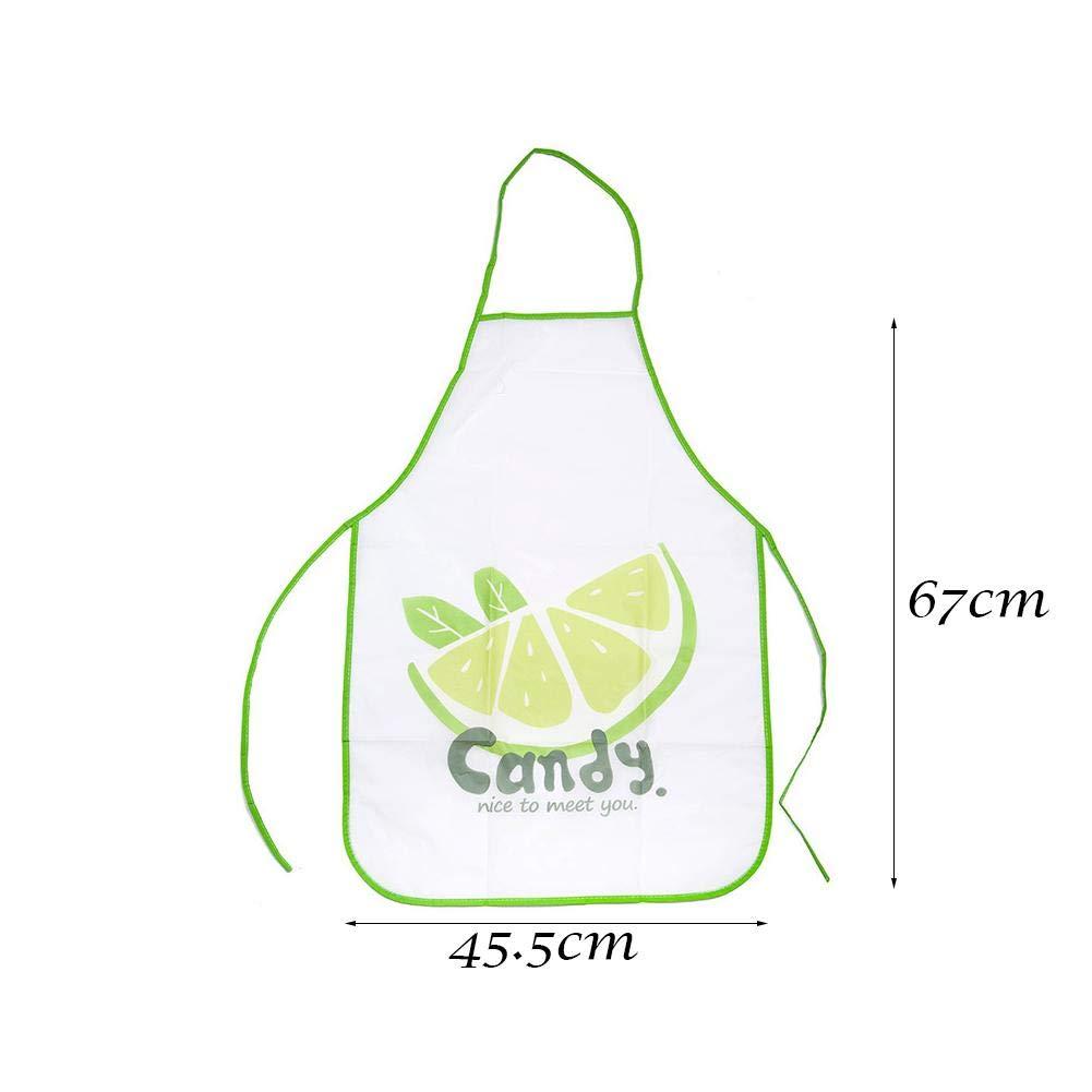 Grembiule da donna in PVC impermeabile e resistente allolio 01