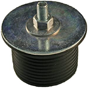 "Shaw Plugs 62001 Hex Nut Expandable Neoprene Rubber Plug with Zinc Plated Steel Hardware, 1"" x 11/16"""