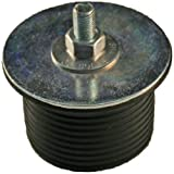 Shaw Plugs 62005 Hex Nut Expandable Neoprene Rubber Plug with Zinc Plated Steel Hardware, 2'' x 1-5/16''