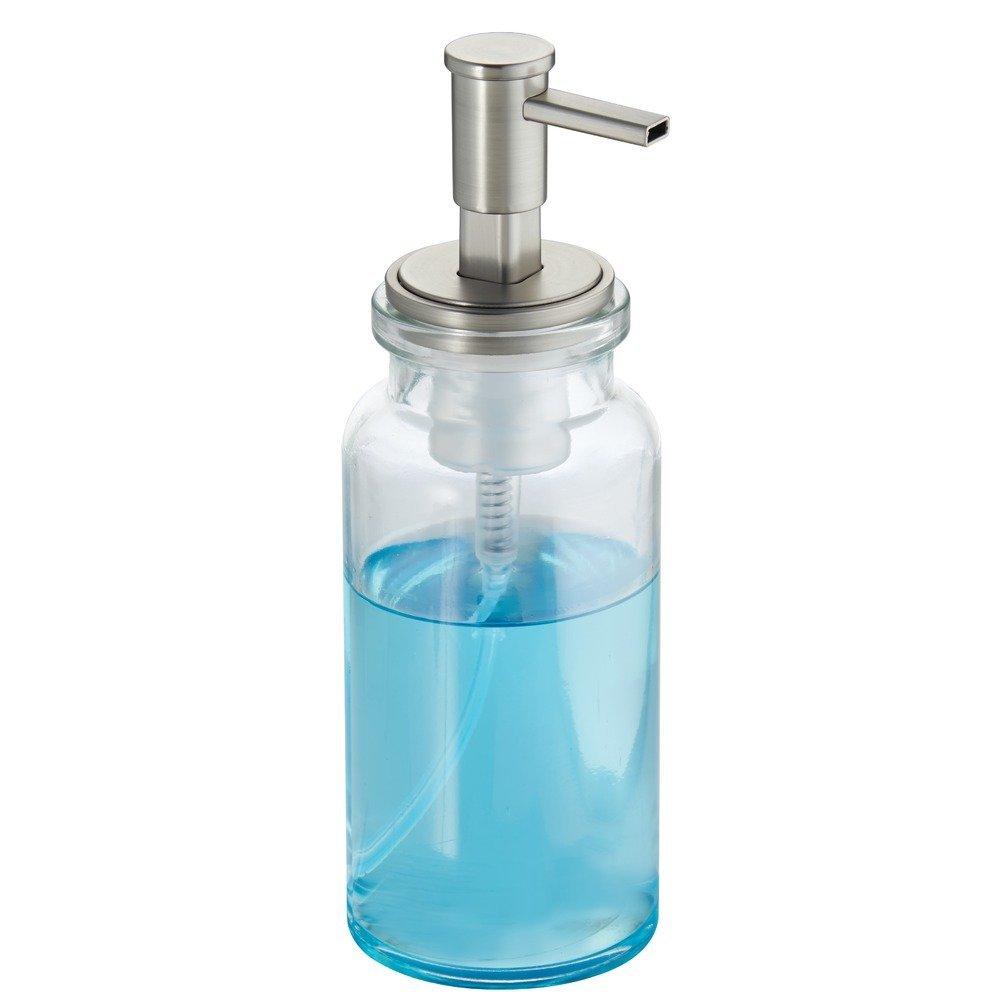 Amazon.com: InterDesign Westport Glass Foaming Soap Dispenser Pump ...