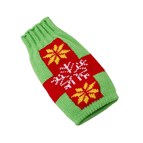 Buildent(TM) Wine Bottle Cover Bags Decoration Party Santa Claus Christmas Cap On Wine Bottle Xmas Day Favor Decor Acceessories [Green Snowflakes ] ()