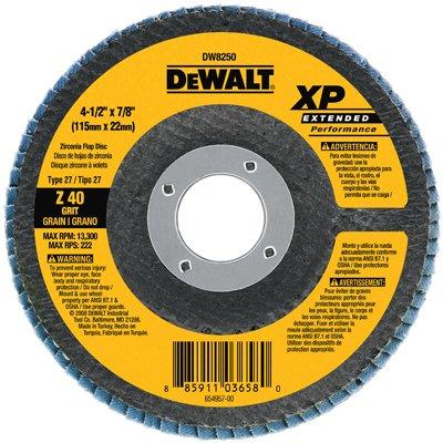 4.5x7/8 40G Flap Disc by DEWALT