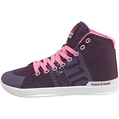 6cb984cec92 Reebok Womens CrossFit Lite TR Poly Hi-Tops Purple Pink Reflection ...