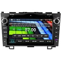 OUKU Brand 8 Inch Double 2 DIN In-Dash Car CD DVD Player For Honda Cr-v CRV 2008 2009 2010 2011 Multi-touch Screen FM Transmitter Radio Receiver GPS Navigation Built-in Bluetooth,radio with RDS, Analog TV, AUX&USB, iPhone/iPod Controls, Steering Wheel Control +Free North America Map