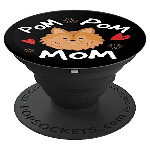 Pomeranian Pom Pom Mom Funny Gift Dog Lovers Women Gifts - PopSockets Grip and Stand for Phones and Tablets