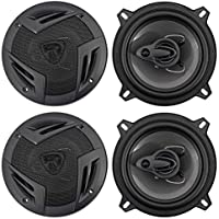 (4) Rockville RV5.3A 5.25 3-Way Car Speakers 1200 Watts/200 Watts RMS CEA Rated