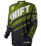 Shift Racing Assault Race Youth Boys Off-Road Motorcycle Jersey - Black/Green/Small