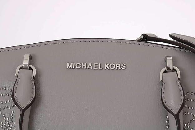 871b4df5ca Amazon.com: Michael Kors Women's Ellis Small Convertible Leather Gold Toned  Studs Satchel Crossbody Bag Purse Handbag (Ash Grey): Shoes