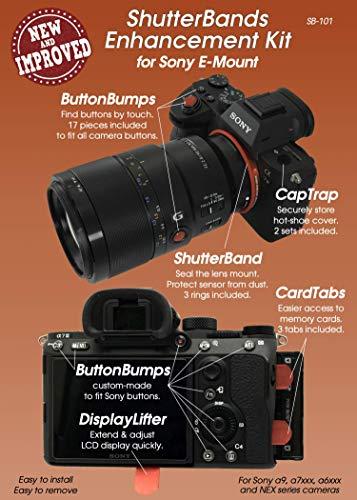 - ShutterBands Enhancement Kit for Sony E-Mount (fits Sony a9, a7RIII, a7III, a7RII, a7SII, a7II, a7, a7R, a7S, a6500, a6300, a6000, a5000, NEX Series)