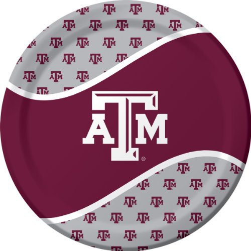Texas A & M Aggies Dinner Paper Plates, 8-Count (M Party Costumes)