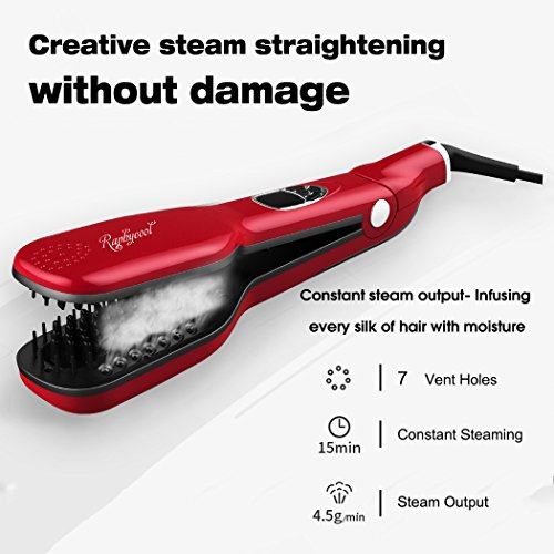 Raphycool Brush Hair Straightener Anti Static Hair