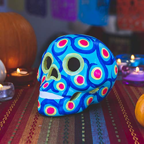 Sugar Skull Halloween Decoration Beautiful Handmade Calavera Mexican Art. Mexican Home Decor. Fiesta Dia de Los Muertos Party Decorations. Artesanias Mexicanas Latinas. -