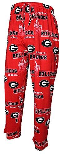 NCAA Georgia Bulldogs Mens Red Fusion Pajama Pants