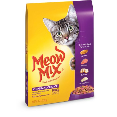 Meow Mix Dry Cat Food Chicken Turkey Salmon & Oceanfish 16-Pound Bag