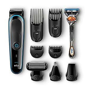 Braun MGK 3080 - Set de afeitado multifunción corporal y facial con recortadora 9 en 1