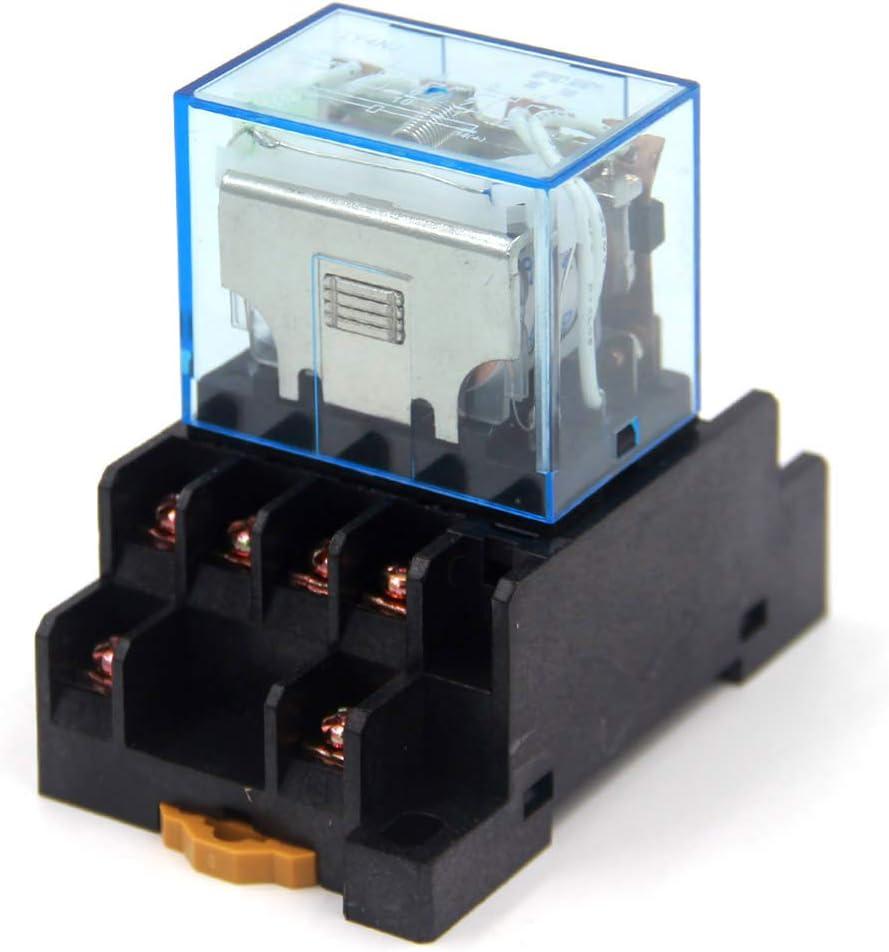 Woljay LY4NJ AC 220V Spule 4PDT 14 Pin Gereral Zweck Relais Kontrollleuchte Elektromagnetisches Leistungsrelais mit Sockel