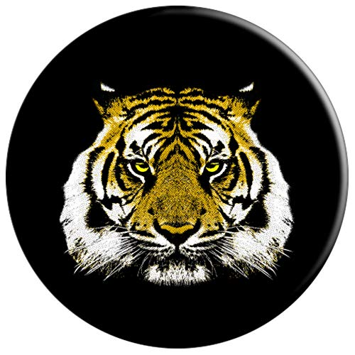 Tiger Face Phone Socket - Jungle Big Cats Love, Big Cat Lady - PopSockets Grip and Stand for Phones and Tablets by Agendum Dabbing Zoo (Image #2)
