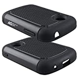 lg 305c phone case - LG 306G Case - Armatus Gear (TM) Slim Defender Hex Grid Hybrid Armor Case Impact Resistant Protector Cover For LG 306G / LG 305C (TracFone / NET10 / StraightTalk) - Black/Black