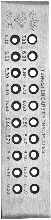 Taidda Placa de Dibujo de Alambre de joyer/ía Placa de Dibujo de Alambre de joyer/ía Redondos Ligeros Tablero de Dibujo de Alambre Placa de Dibujo de Metal Herramientas de joyer/ía D