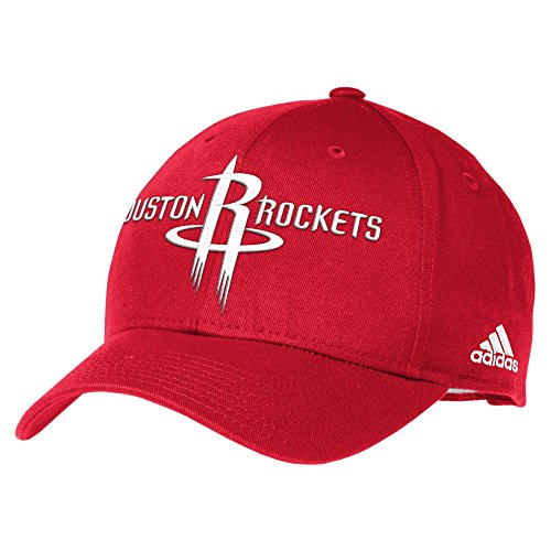 Men's Basics Structured Adjustable Hat, One Size, Red (Adidas Nba Team Slouch Cap)