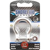 Shoreline Marine SL52066-X 5/16-Inch Shackle Anchor, Stainlesss Steel