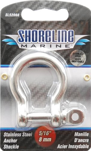 (Shoreline Marine Stainless Steel Shackle Anchor, 5/16-Inch (316))